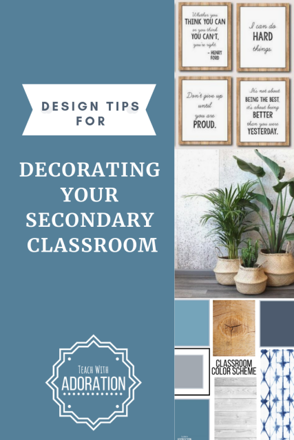 decorating your secondary classroom